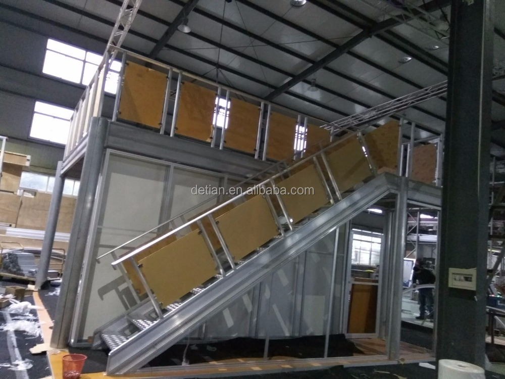 Double deck exhibition booth for trade show, free design double deck booth for Mexico