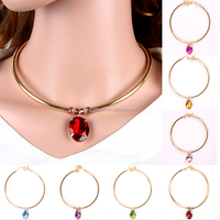 Yiwu Gold Handmade Crystal Choker Necklace