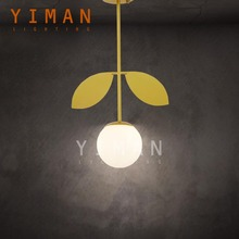Yiman Lighting Iron Glass Bronze Pendant Lamps