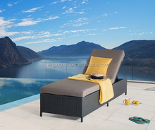 High quality outdoor wicker furniture rattan sun lounger bed