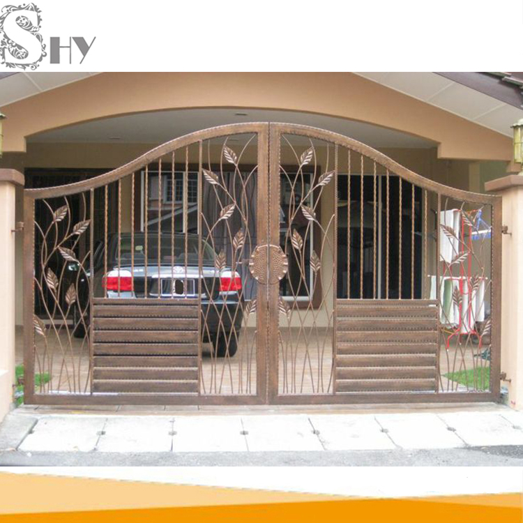 latest cheap indian house wrought iron steel main gate designs for home