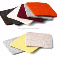 wholesale eco friendly felt recycle coasters drink felt coasters felt fancy fabric drink coasters