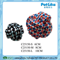 Interative T-shirt Cloth Rope Ball Braided Dog Chewing Ball Colorful Dog Dental Ball