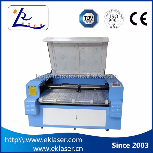 1610 auto feeding cnc embroidery fabric cutting laser machine eastern price