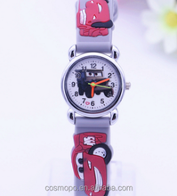 2015 New Style Children's Watches With Silicone Strap Car Model Cartoon Watches Lovely Quartz Watch For Children