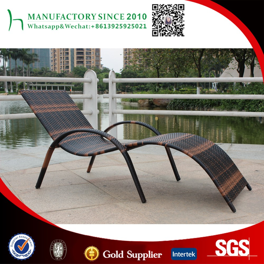 swimming pool sun lounger rattan pool outdoor beach furniture