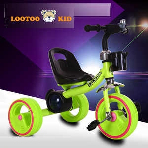 3 wheel car toy children metal frame tricycle / push along trike for 1 year old / kids pedicab