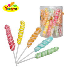 Colorful Fruity 12g Wave Lollipop Candy