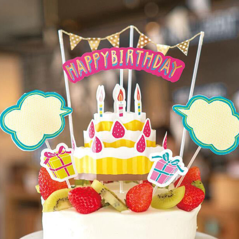 Flowers Collection Happy Birthday Cake Topper Car Boat Heart Kids Boy Girl First One Birthday Party Baby Shower Party Decoration Topper Happy Birthday Topper Caketoppers Birthday Cakes Aliexpress
