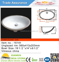 Cheap Colored Undermount Oval Porcelain Bathroom Sinks