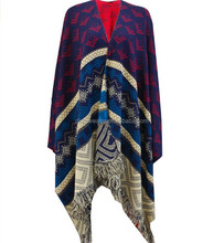 ladies high quality Knitted tassels Reversible Poncho Draped Cardigan