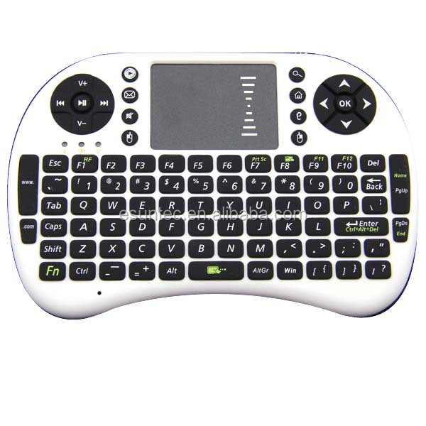 2.4G wireless multimedia rii i8 mini gaming keyboard, KW-008