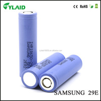 High discharge rate battery 18650 2900mah 3.7V Li-ion Battery Cells 10A INR18650-29E for samsung