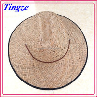 Hot selling wholesale summer cheap handmade men natural straw hat TCS01