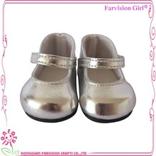 Silver doll shoes for 18 inch dolls american girl doll shoes