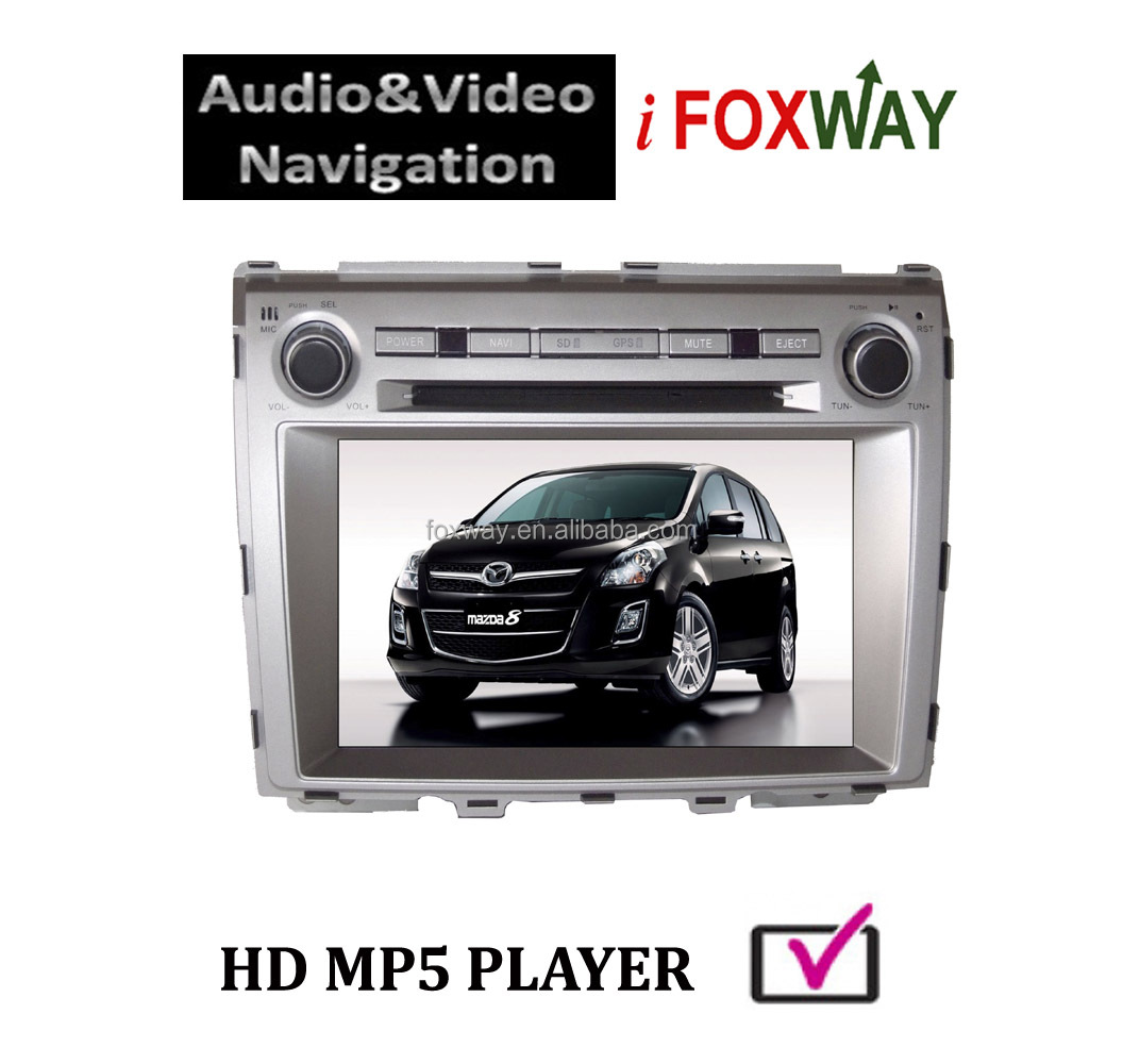 New Arrival 8 Inch Double Din Bluetooth/IPOD/GPS In-dash Mazda 8 MPV Car DVD