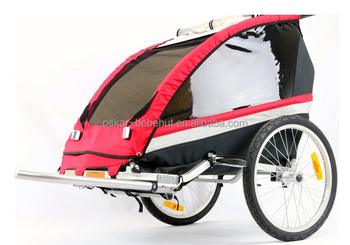 Aluminum Baby stroller 2 in 1 for bike trailer with packing brake