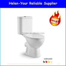 Stock 3L/6L Water Saving Toilet Bowl Bathroom Portable Closet Two Piece WC B-2311