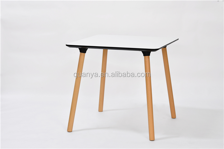 Oblong wood leg modern conference table