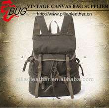 2013 Fashionable Cotton Waxed Canvas Drawstring Backpack/Canvas Bag Manufacturer