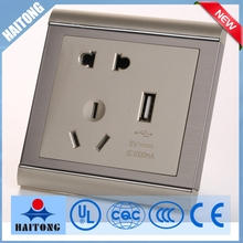 120v wireless modern wall switch with double USB for appliance with indicator