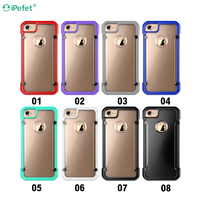 2016 TPU PC Shockproof Cover Transparent Clear Armor Case For iPhone 7 Plus