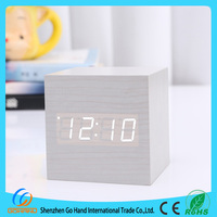 Newest portable LED wooden carpet alarm clock