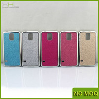 Bling glitter chrome mobile phone case for samsung galaxy s5