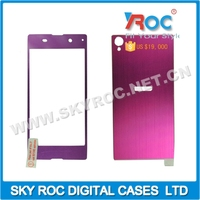Fashionable Front and Rear 0.3mm Aluminium alloy tempered glass screen protector film for Sony Xperia Z1
