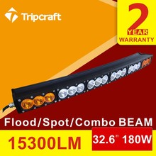 22inch 180W CREES amber/white customized curved led driving light bar 12v led light bar