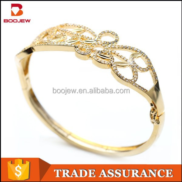 latest design charming 1 gram gold plated bangles white plated