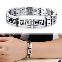 TRYME Brand Cool Men Casual Bracelet Fashion Stainless Steel Biker/Motorcycle/Running Sporty Jewelry Bangle Hot New GS739