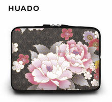 new flower laptop sleeve ladies notebook bag women notebook case for hp/lenovo/ipad/mac