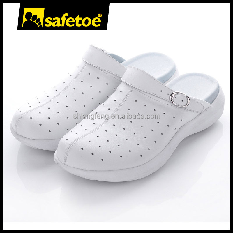 Slip resistant esd white shoes,esd spu slipper