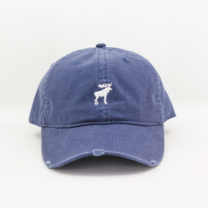 custom distressed caps blank plain unstructured 6 panel distressed dad hat