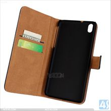 Wallet Genuine Leather Blank Case for HTC One M8 Mini P-HTCM8MINISPCA008