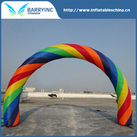 Hot selling cheap custom inflatable rainbow arch for sale