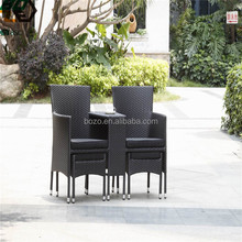 PE rattan outdoor table chair set leisure garden furniture