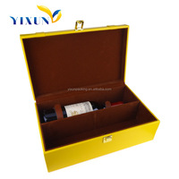 2015 luxury pu leather wine carrier for 2 bottles