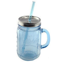 16 OZ Mason Glass Jar With Straw and Mason Jars With Handles