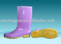 Yellow PVC Rain Shoes CE