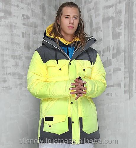 2014/2015 High quality Unisex warm Ski Snowboard jacket, Indi Jacket NeonLemon
