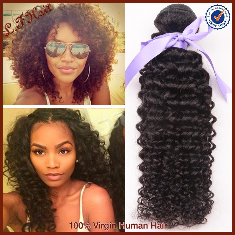 100% Unprocessed Human Virgin Brazilian Hair Kinky Curly Hair Weave