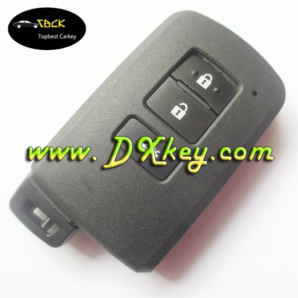 Topbest New Product for Toyota 3 buttons smart car key shell in black with emergency key blade toyota key cover