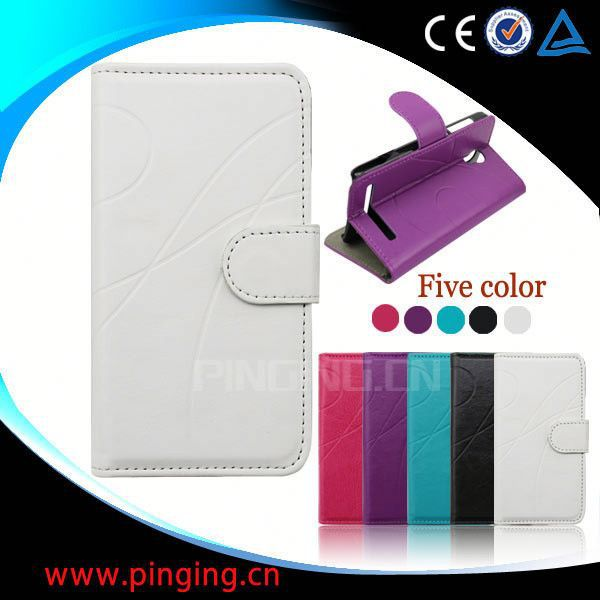 factory price wallet leather cover case for samsung c3222