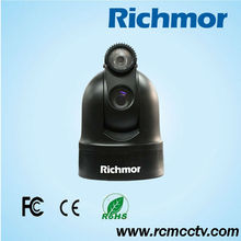 RS485 Day/ Night Vision Optical Pan/Tilt Rotating Ptz Zoom Camera Mini PTZ for Vehicle Police Car