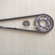 Dirt Bike Chain kits CD70 41T/14T 420-104L timing chain for India Market