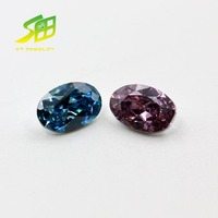 beautiful best price oval shape colours bottom of the silver plating cubic zircon gemstone