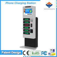 Money making machine! Floor stand coin operated universal smartphone charger station APC-06B