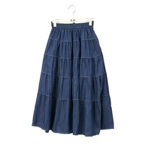 Ladies fashion long blue jean skirts